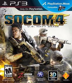 Jogo Socom 4 Us Navy Seals Playstation 3 Ps3 Mídia Física
