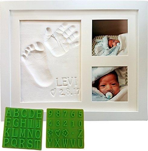 Personalizado Bebe Handprint Y Huella Keepsake Photo Frame K