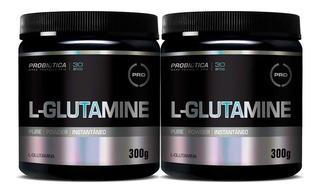 2un Glutamina 300gr Probiótica ( 600gr )