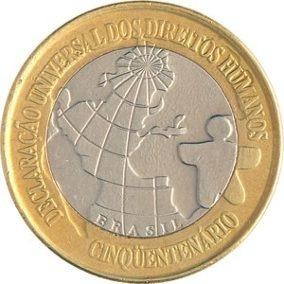 Moeda Comemorativa Direitos Humanos 1998.