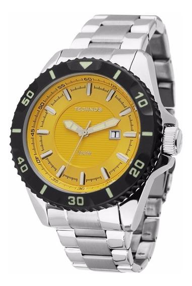 Relógio Technos Masculino Acqua 2115kpa/1y Amarelo Mergulho