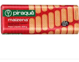 Biscoito Maizena Piraque Kit C/ 10 Unidades De 200 G