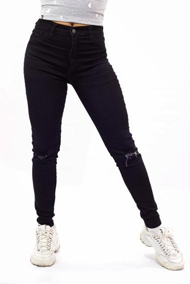 Jeans Pantalon Damas Gigolo Negro Stretch Mayor Y Detal