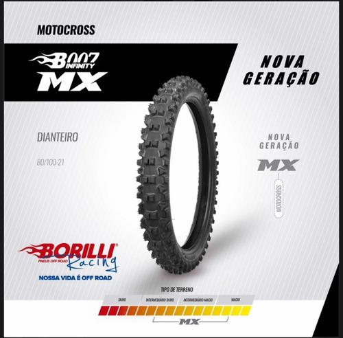 Cubierta Motocross 80-100-21 Borilli