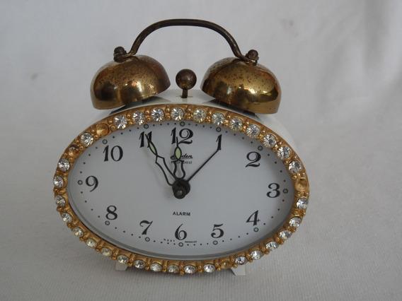 Reloj Mesa Linden Blackforest Cuerda Vintage Aleman Alarma