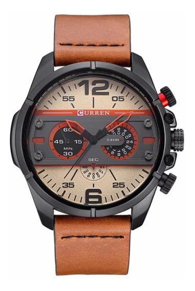 Relógio Curren 8259 Masculino Original Pulseira De Coiso