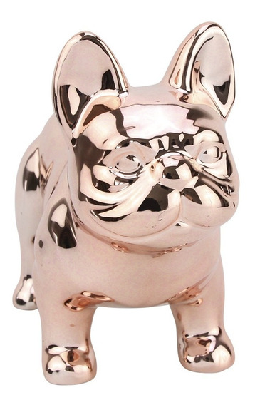 Cofre Cachorro Pug Cerâmica Decoração Enfeite