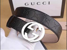 f15ee72dd0 Cinto Gucci Signature Em Couro Feito Na Itália Original