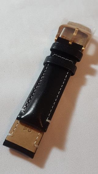 Pulseira Couro Calvin Klein Preta Bronze 20 Mm X 208 Mm