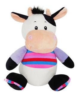 Peluche Alcancía Con Sonido De Vaca Con Suéter Rayado