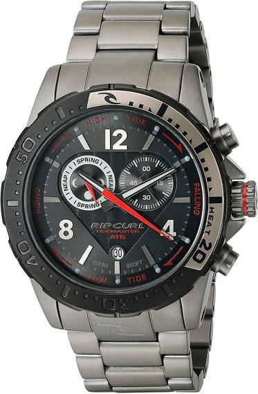 Relógio Rip Curl Masculino Tidemaster Ats A111790 *titânio