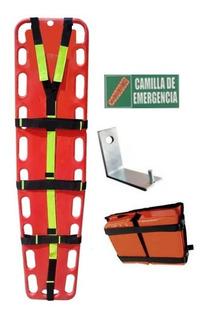 Camilla Emergencia+arnés Refle+inmovilizador+envío+spt+señal