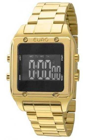 Relógio Euro Feminino Eug2510aa/4p Quadrado