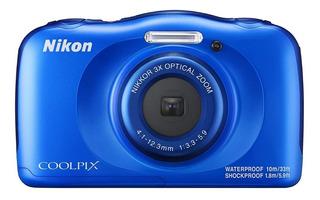 Camara Nikon Coolpix W100 Blue Incluye Correa De Flotacion