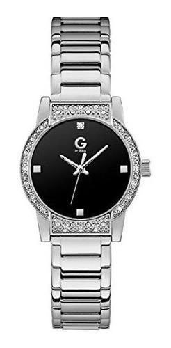 G By Guess Reloj Plateado Y Negro Para Mujer