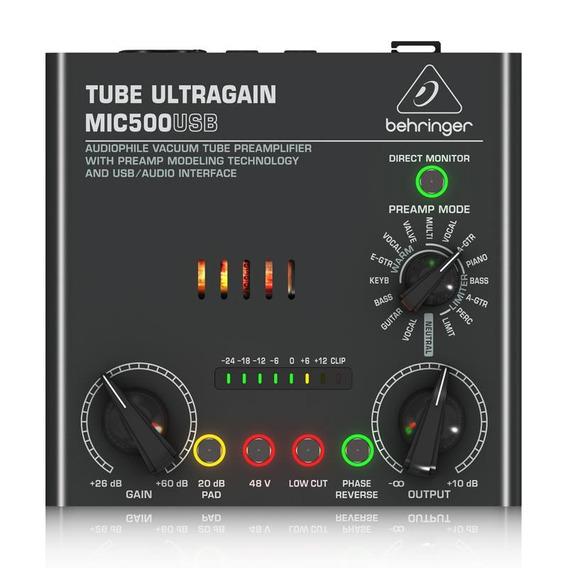 Pré Amplificador Behringer Vacuum Tube Mic500usb Interface