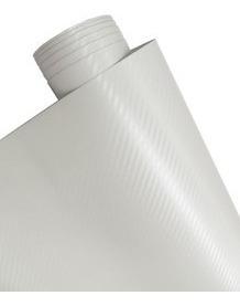 Adesivo Branco Fibra De Carbono Moldável 1mx50cm