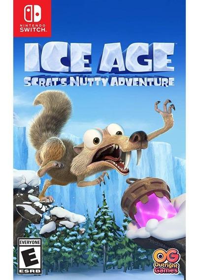 Ice Age Scrats Nutty Adventure Switch Mídia Física Novo