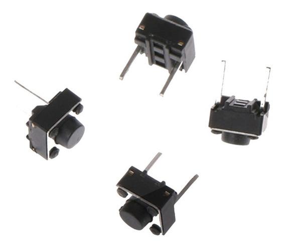 Botão Microchave Push Button 2 Pinos Protoboard - 100 Peças