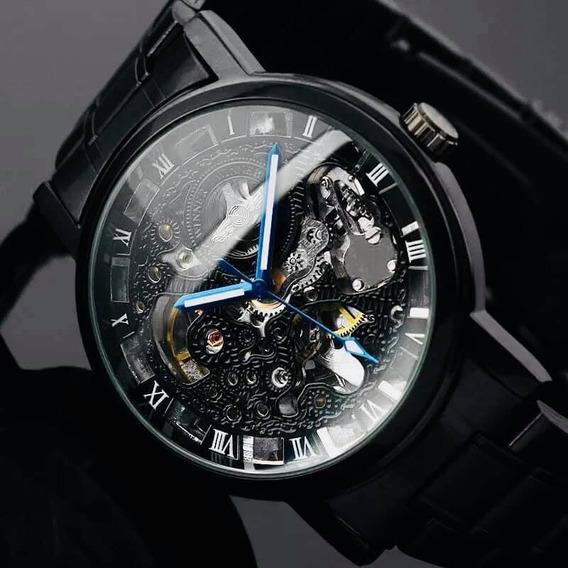 Reloj Winner Skeleton Metal Mecánico Automático!