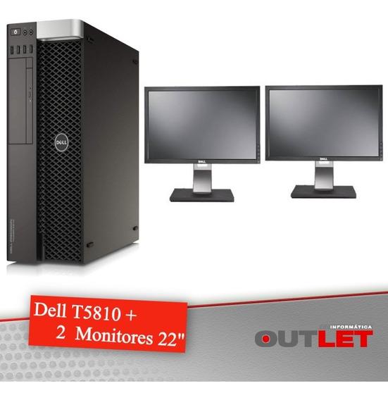 Workstation Dell Precision T5810 + 2 Monitores Dell 22