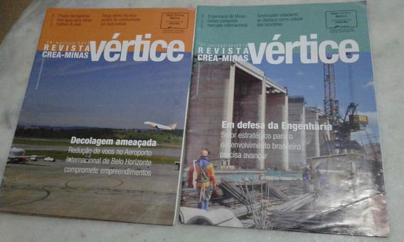 Lote Revistas Vértice Crea-minas N 26 E 27 2015 Ler Descriç
