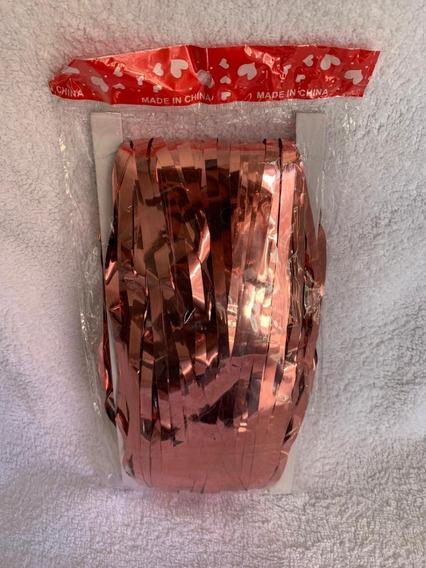 Cortina Metalizada Rose Gold 1x2mts