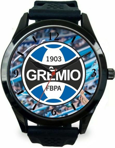 Relógio Pulso Torcedor Gremista Personalizado Esportivo