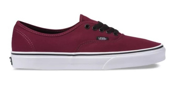 Zapatillas Vans Mod Authentic Bordo Negro Coleccion 2020
