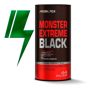 Monster Extreme Black 44 Packs Nova Fórmula - Probiótica