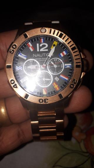 Relógio Náutica Dourado