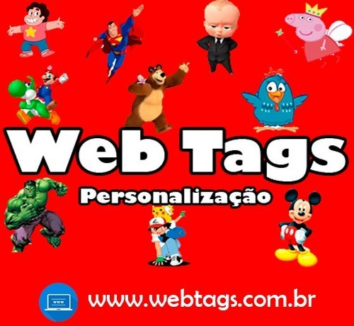 Imagem 1 de 7 de 100 Tags, Topper, Apliques Para Festas (qualquer Tema)