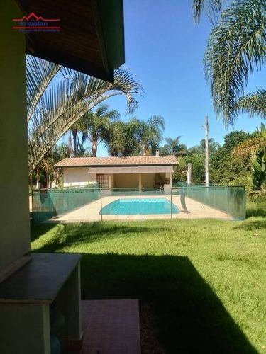 Chácara Com 2 Dormitórios À Venda, 18700 M² Por R$ 850.000,00 - Sul Brasil - Atibaia/sp - Ch0185