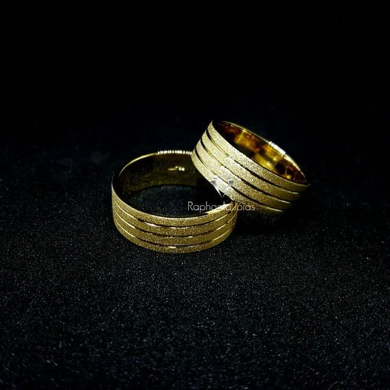Alianças 12g. Ouro 18k Maciço Noivado Casamento