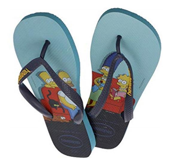 Cholas De Dama Simpsons Havaianas Azul Talla 39/40