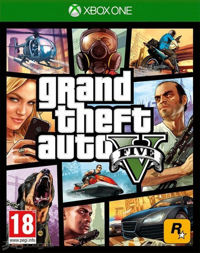 Grand Theft Auto V Gta 5 Xbox One Fisico Sellado Cuotas Ade