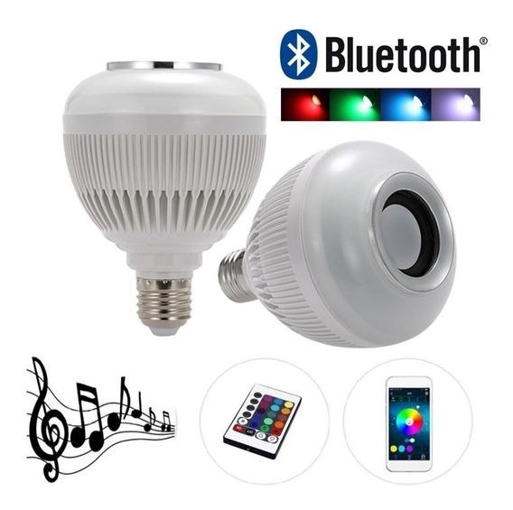 Kit 2 Lampadas Caixa Som Bluetooth Ideal Decoração Quartos
