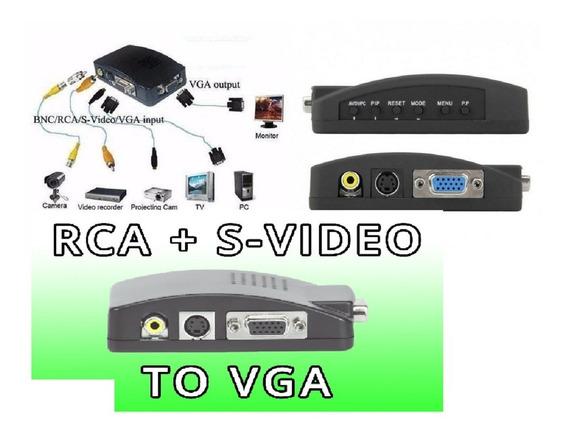 Conversor Video Rca P/ Vga Ps1 Ps2 Para Monitor