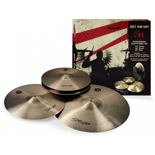 Set Platillos Stagg Sh Hihat 14 + Crash 16 + Ride 20 + Funda