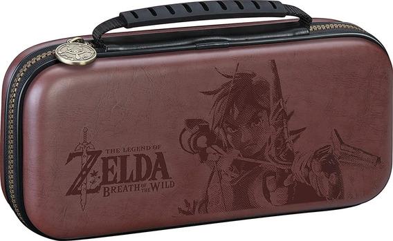 Case Viagem Deluxe Zelda Nintendo Switch.Couro Alto Relevo