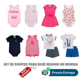 Roupas De Bebe Masculino/feminino Kit 10 Pçs P/m/g Atacado