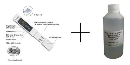 Imagen 1 de 7 de Kit Conductimetro Mas Solución De Calibración.