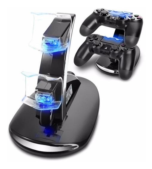 Base De Carga Doble Para Joystick Ps4 Led Playstation