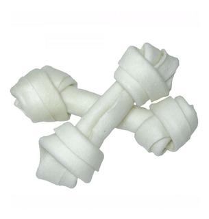 Hueso De Cuero Blanco 20cm 7/8 Golosina Perro