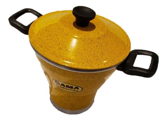 Cuscuzeira Colorida - 2 Litros - Amarela