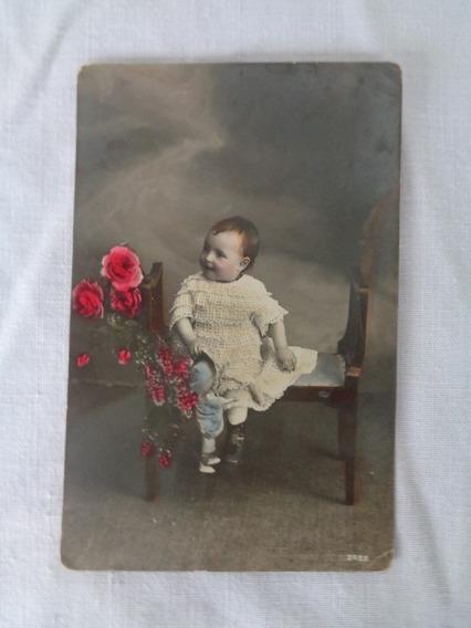 Cartão Postal Temático Brinquedo Antigo Boneca 1923