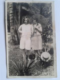 Foto Postal Antigua Mujer Antigüedades (1929?) - Xmh