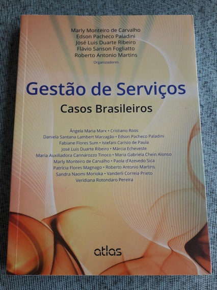 Livro Gestao De Servicos Casos Brasileiros Marly Monteiro