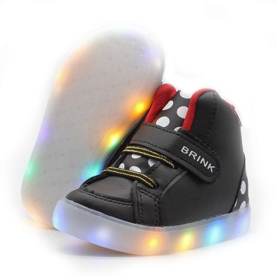 Tenis Botinha Led Infantil Cano Baixo Com Luz Que Pisca