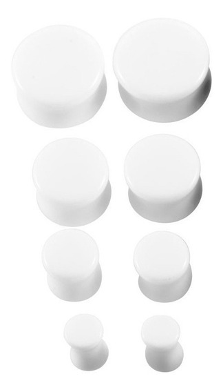 Alargador Plug Branco 10mm
